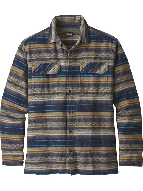Patagonia Fjord Flannel - T-shirt manches longues Homme - beige/bleu